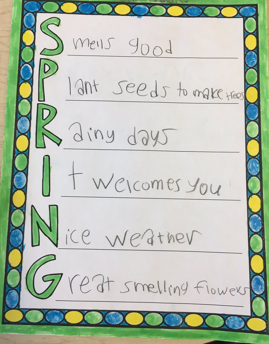 Spring Has Sprung And So Has Our Poetry Unit At Campbellaps