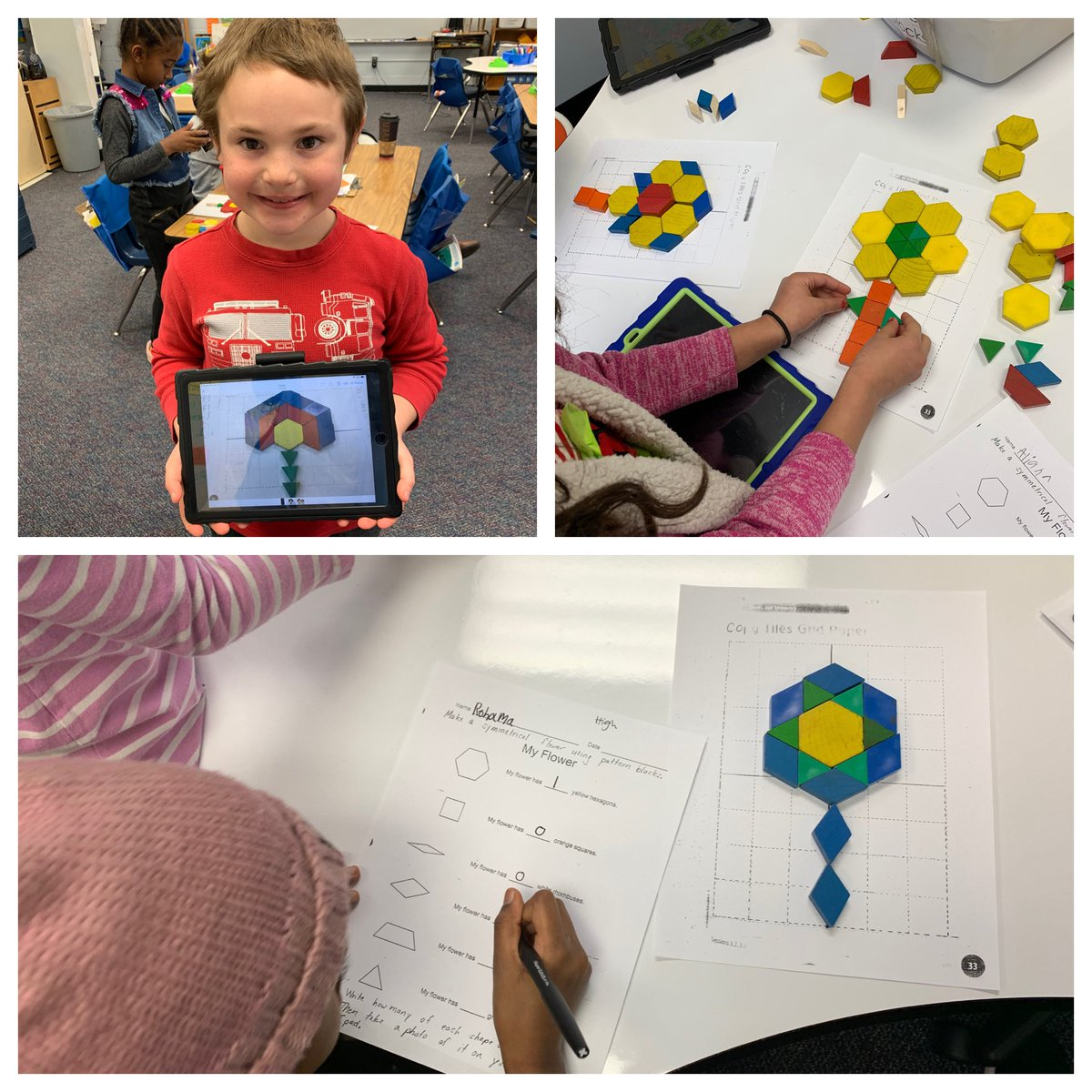 today-we-applied-what-we-learned-about-symmetry-to-create-symmetrical-flowers-with-pattern-blocks-campbellaps-https-t-co-pqqpff6kuf